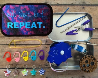 Travel Knit Kit for Knitting Swaps | Eat. Sleep. Knit. Repeat.