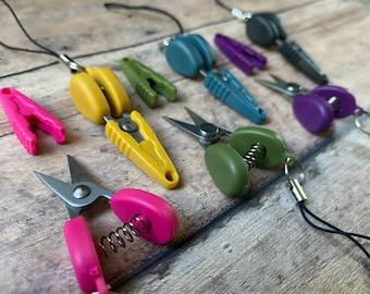 Travel scissors - Miniature snips great for airplane/TSA/yarn/thread/embroidery/knitting/crochet!