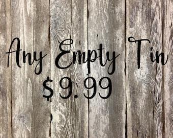 EMPTY Tool Tin
