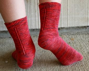 Socks Aslant: PDF Lacy Sock Knitting Pattern by The Sexy Knitter