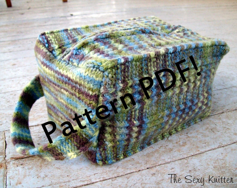 Cuboid Felted Box Bag: PDF Knitting Pattern by The Sexy image 0