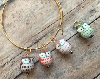 Stitch Marker Bracelet - Owls