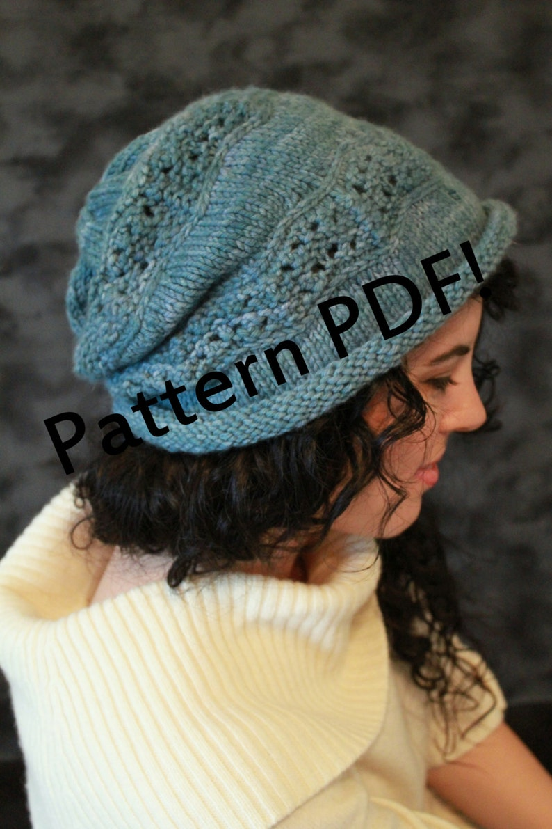 Crinkle Beret/Hat: PDF Knitting Pattern by The Sexy Knitter image 0