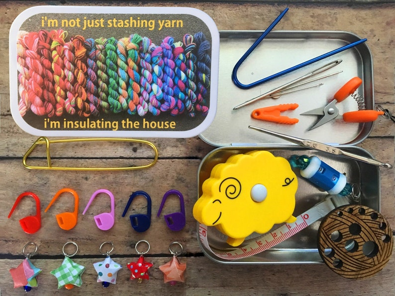 I'm not just stashing yarn: The Knitter's Tool Tin image 0