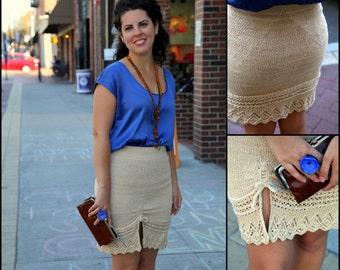 Sundance Square Skirt Pattern: PDF Knitting Pattern by The Sexy Knitter