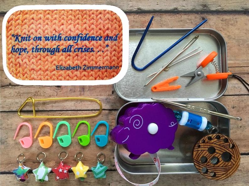 Elizabeth Zimmermann: The Knitter's Tool Altoid Tin for image 0