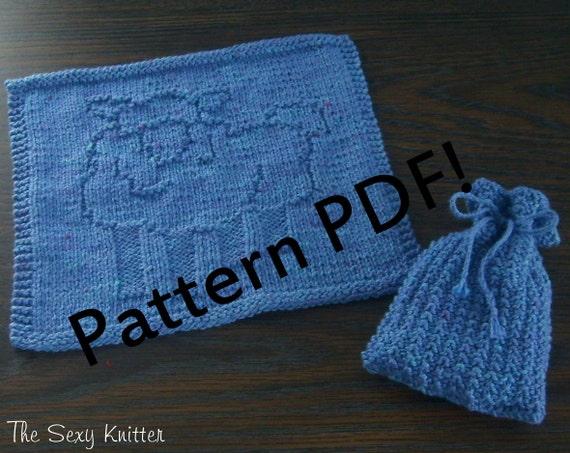 Sheepy Lamb Washcloth Soap Sack Pdf Knitting Pattern By The Etsy