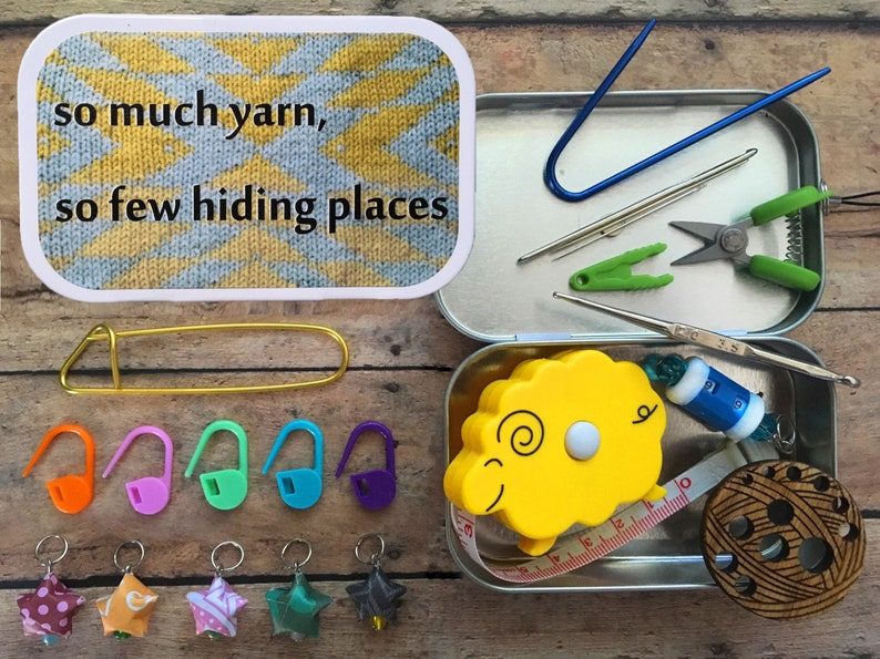 So Much Yarn So Few Hiding Places Knitter's Tool Tin  image 0
