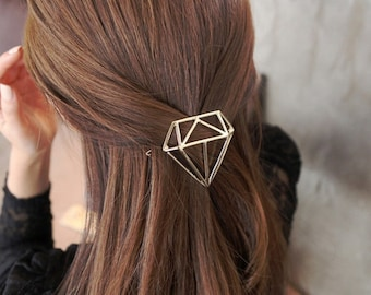 Golden Diamond Hairclip