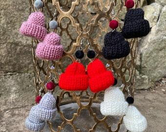 Knit Hat Earrings