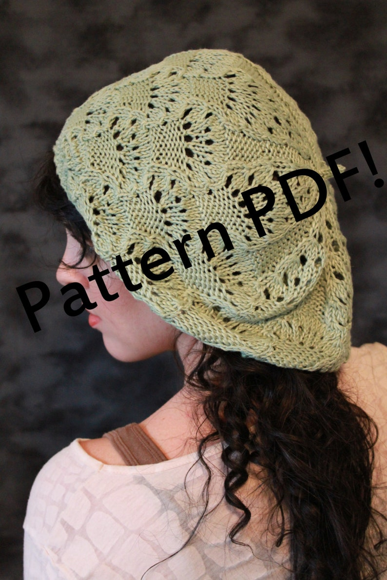 Fairy Lace Beret: PDF Knitting Pattern by The Sexy Knitter image 0
