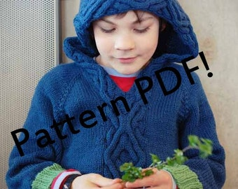 Squirm Children's Cabled Hoodie