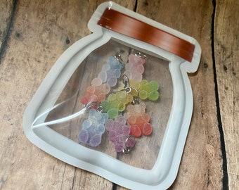 Gummy Bears in a Mason Jar Pouch