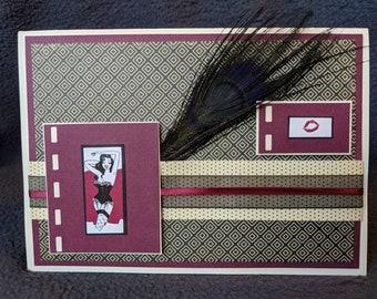 Ladies n Feathers Blank Card using Buxom Full-on Lip Polish Packaging