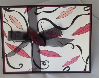 A Special Birthday Greeting Upcycled MAC packaging Card