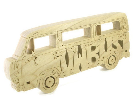 VW Bus Wood Jigsaw Puzzle