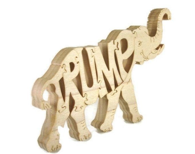 Trump Wood Republican Puzzle Handmade From Poplar Lumber
