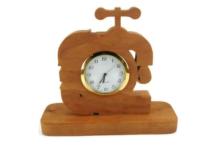 Plumber Desk Or Shelf Clock Handmade From Cherry Wood By KevsKrafts
