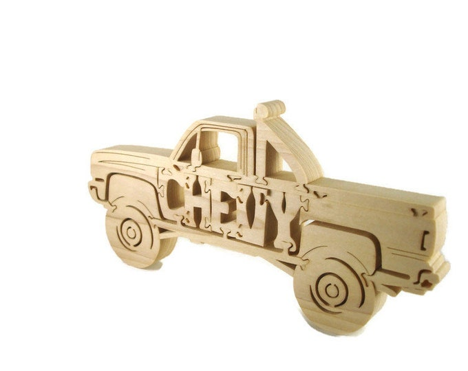 Square Body Chevy Truck Wood Puzzle Handmade By KevsKrafts