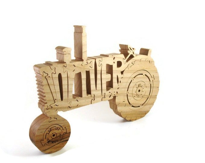 Oliver 770 Farm Tractor Wood Scroll Saw Puzzle Handmade By KevsKrafts