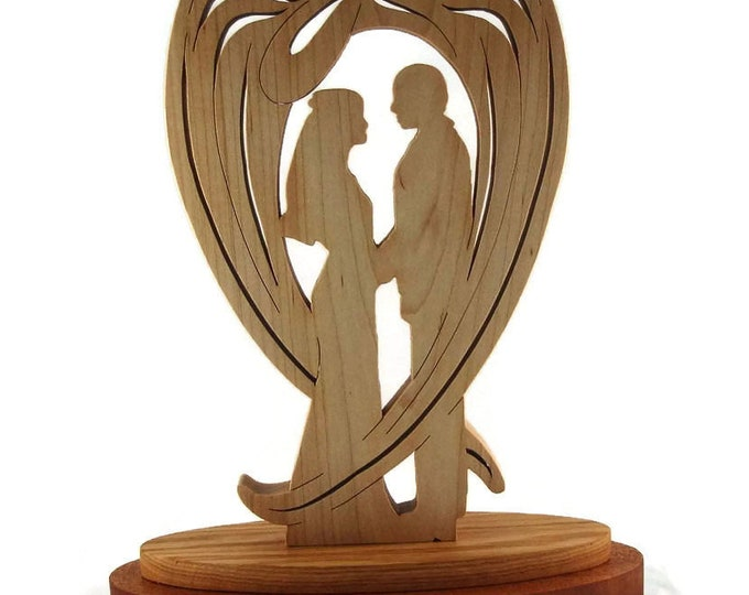 Wedding / Marriage Wooden Guardian Angel Handmade By KevsKrafts
