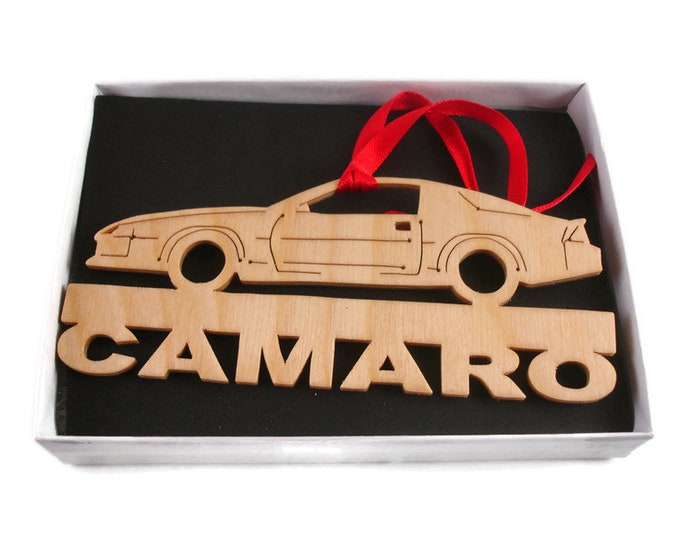 Camaro Christmas Ornament Handmade from Birch Wood By KevsKrafts BN-14LB