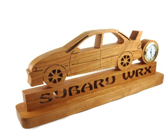 2000 Subaru Impreza WRX Rally Car Desk Or Shelf Clock Handmade From Cherry By KevsKrafts