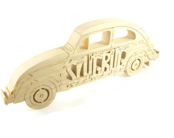 SlugBug VW Beetle Wood Scroll Saw Puzzle Handmade By KevsKrafts