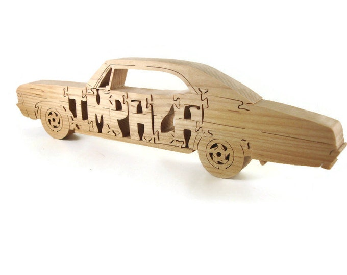 1967 Chevy Impala Hardwood Scroll Saw Puzzle Handmade By KevsKrafts