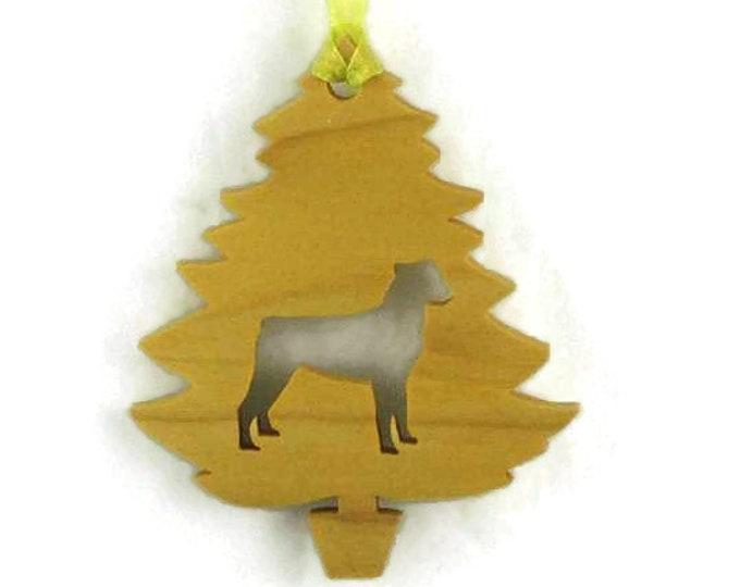 Rottweiler Christmas Tree Ornament Handmade From Poplar Wood