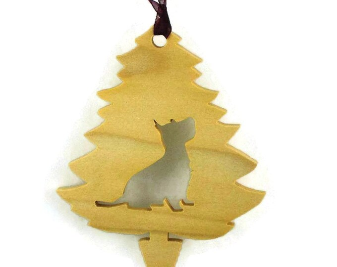 Westie Christmas Tree Ornament Handmade From Poplar Wood