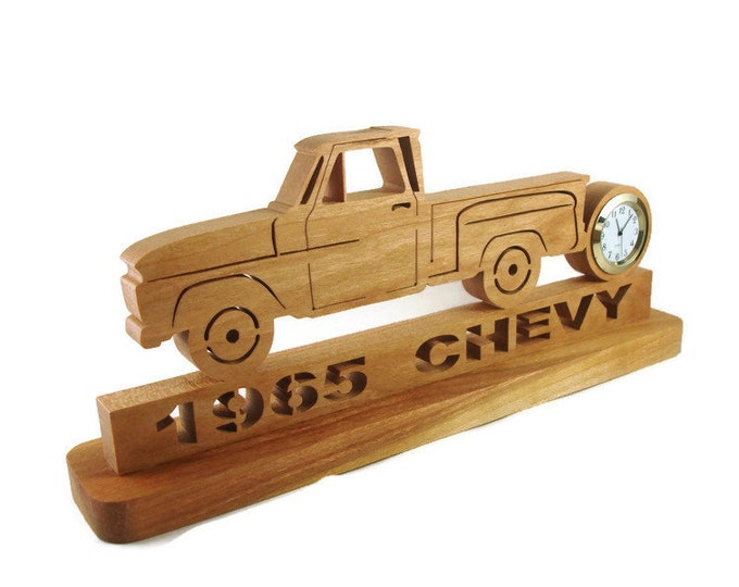 1965 Chevy C10 Step Side Pickup Desk Clock