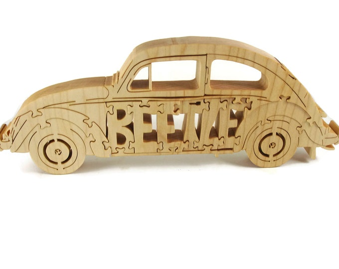 VW Beetle Wood Puzzle Handcrafted From Poplar Wood By KevsKrafts
