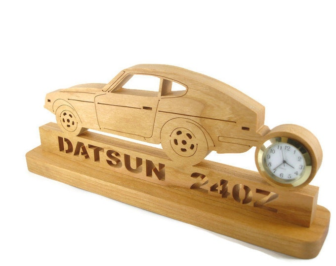 Datsun Nissan 240Z Desk Clock Handmade From Cherry Wood By KevsKrafts