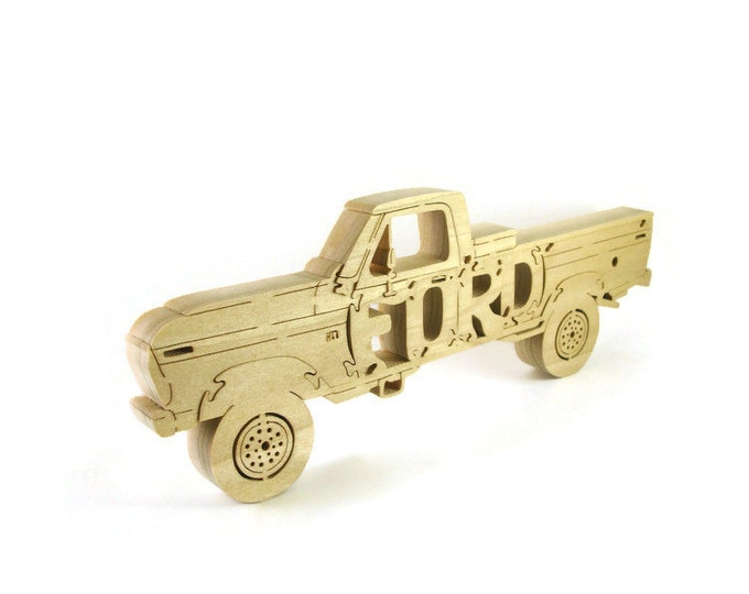 Classic Ford Pickup Truck Puzzle Handmade From Poplar Wood By KevsKrafts