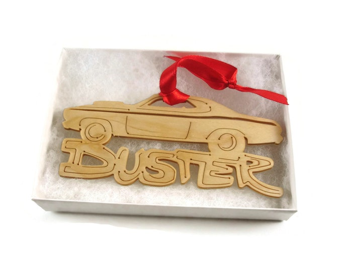 Plymouth Duster Christmas Decoration Tree Ornament Handmade from Birch Wood By KevsKrafts BN 7-3R