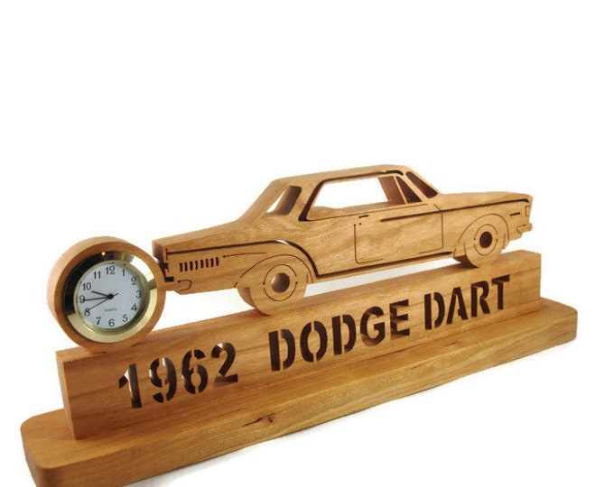 1962 Dart Desk Or Shelf Clock Handmade From Cherry Wood By KevsKrafts
