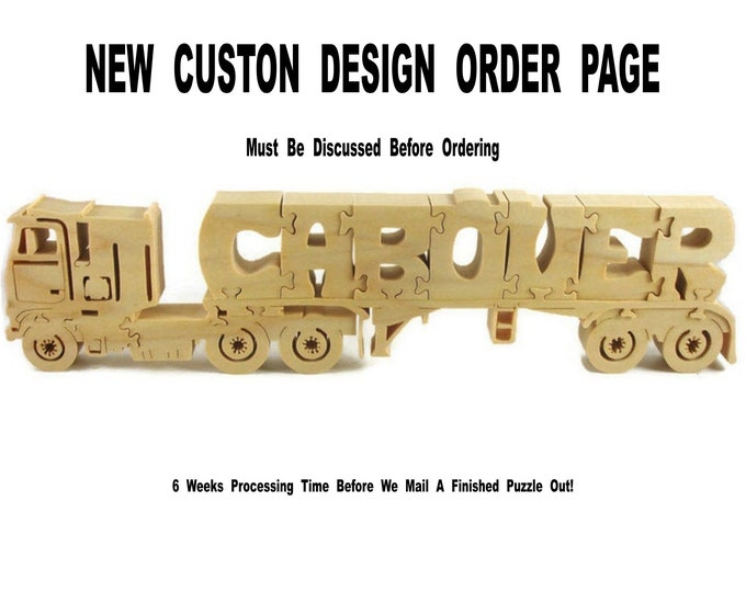 New Custom Design Hand Cut Wood Puzzle Custom Order