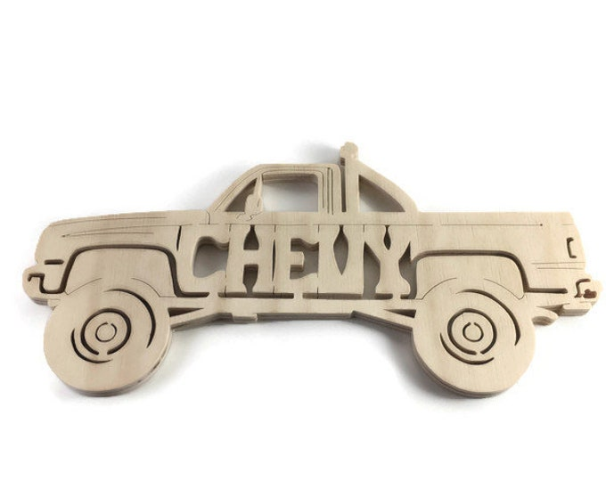 Chevy Truck Wall Hanging Art Handmade From Birch Plywood By KevsKrafts