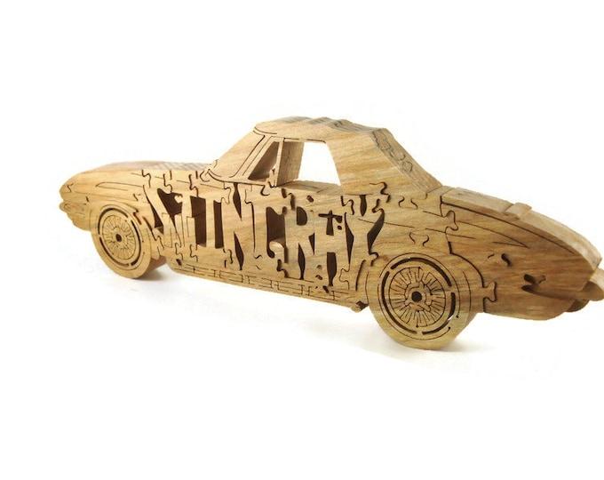 1963 - 1967 Corvette Stingray Hardwood Puzzle Handmade By KevsKrafts