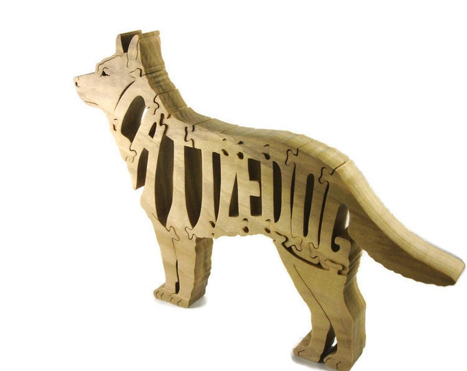 Cattledog Wood Jigsaw or Scroll Saw Puzzle Handmade From Poplar Lumber By KevsKrafts