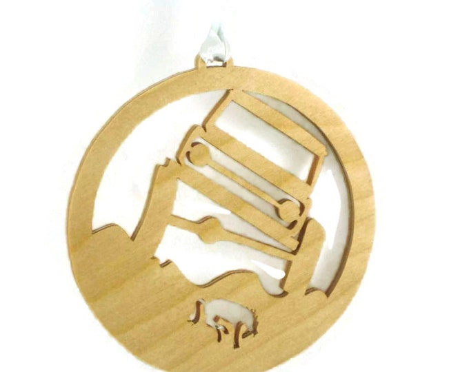 Ford Bronco Rock Crawler Christmas Ornament Handcrafted  from Birch Wood NB-5