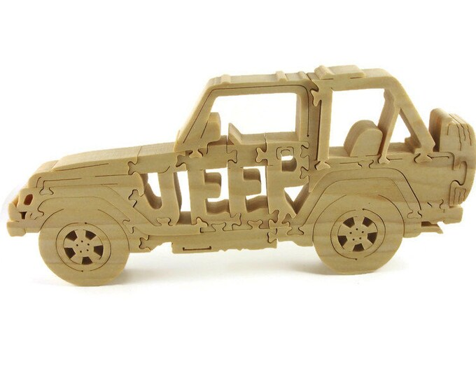 Wooden Jeep Puzzle