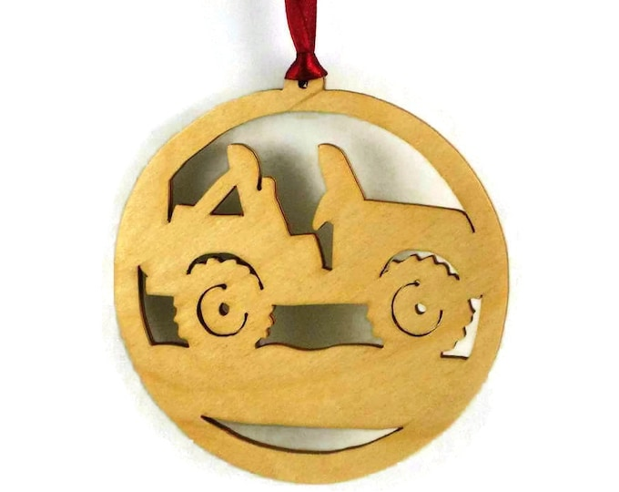 Offroad 4x4 Jeep Christmas Ornament Handmade From Birch Wood BN-15
