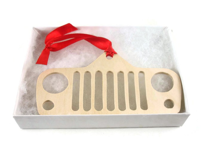 Jeep Grille Christmas Ornament Handmade From Birch Plywood By KevsKrafts NB-1-2M