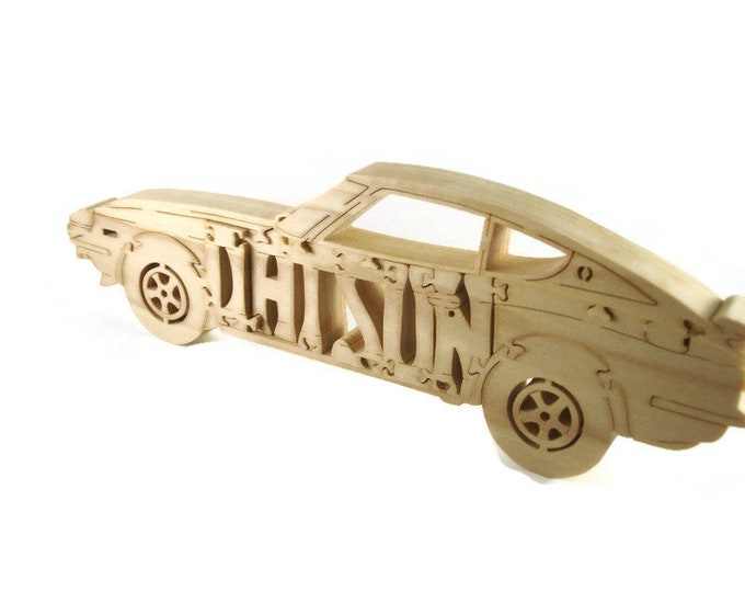 Datsun 240Z Wood Scroll Saw Puzzle Handmade By KevsKrafts