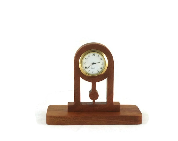 Executive Series Desk Clock Handmade From Cherry By KevsKrafts (003)
