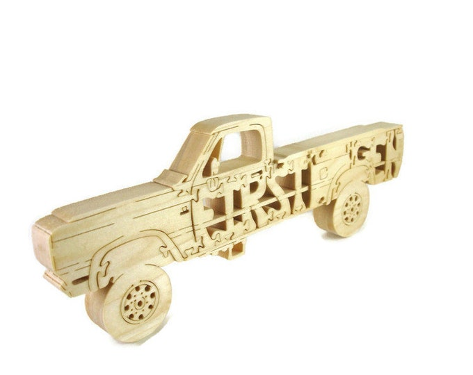 First Gen Dodge Single Cab Pickup Truck Scroll Saw Puzzle Handmade From Poplar Wood By KevsKrafts