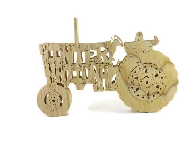 International 466 Farm Tractor Scroll Saw Puzzle Handmade From Poplar Hardwood By KevsKrafts