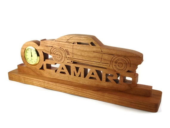Camaro Desk Or Shelf Clock Handmade From Cherry Wood By KevsKrafts
